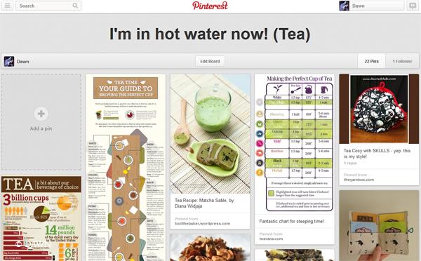 Tea loving Pinterest board