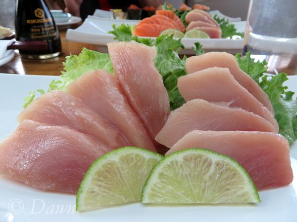 My tuna sashimi order at Hana Sushi.