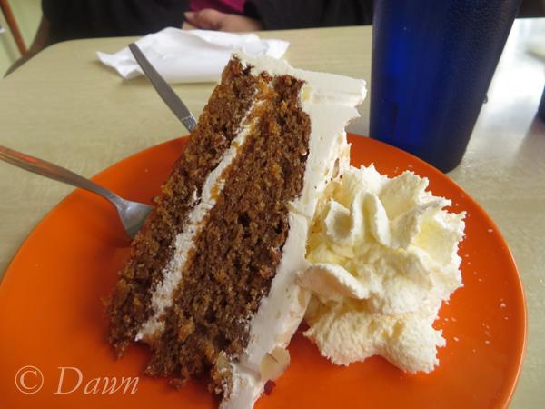 Carrot cake from Café Babalú